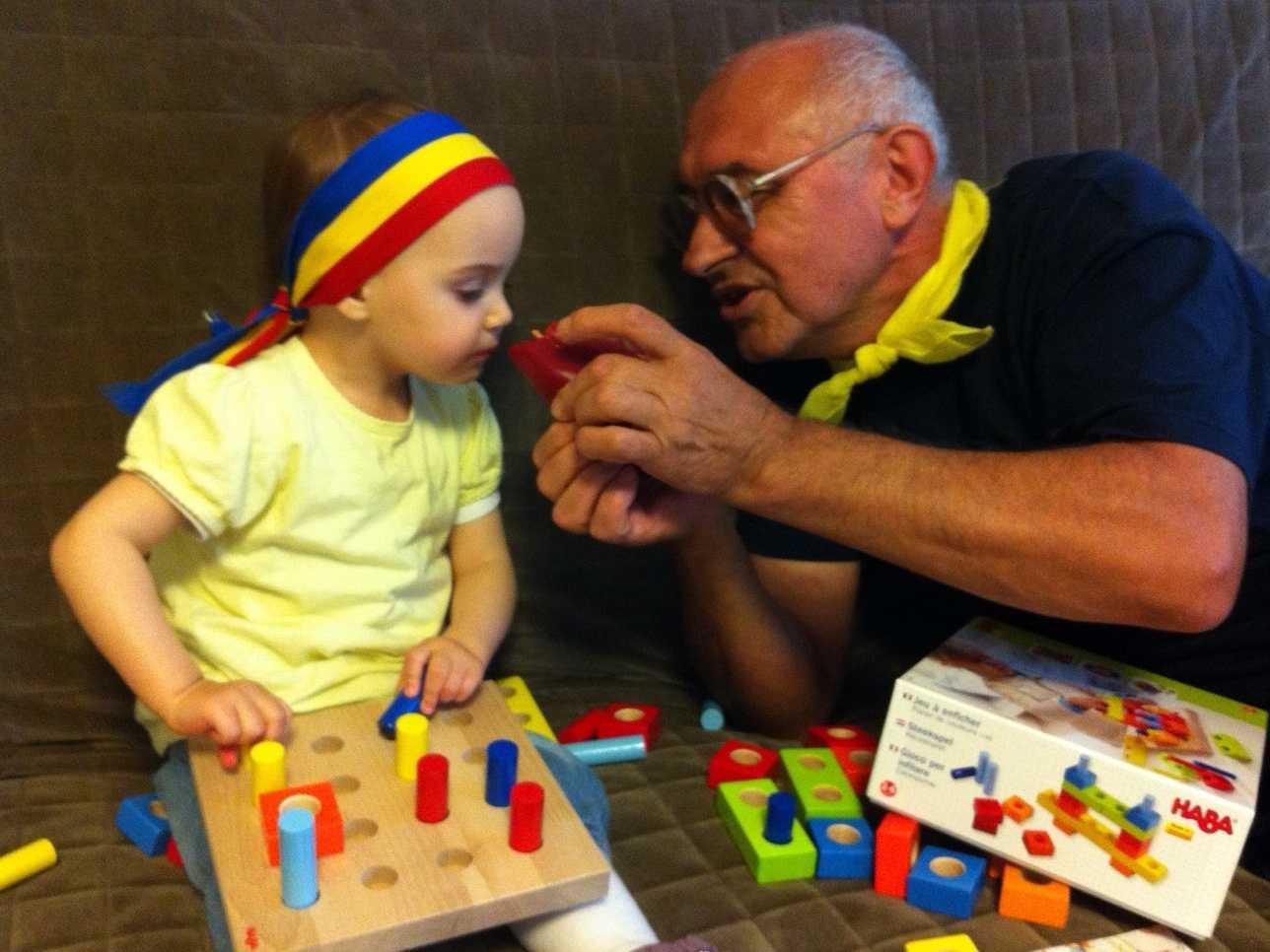 bunicul Sergiu cu nepotica